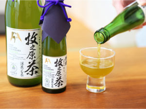 The finest Bottled Green Tea (Makinohara Shizuku-cha)