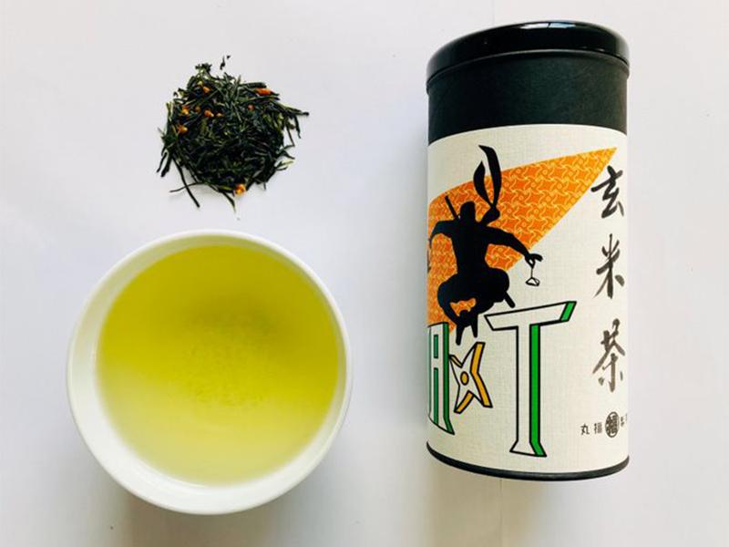 Genmai-cha tea leaves